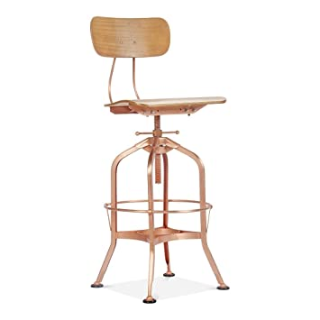 Terrific Cult Furniture Toledo Style Swivel Bar Stool Copper Finish Unemploymentrelief Wooden Chair Designs For Living Room Unemploymentrelieforg