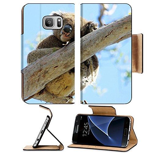 MSD Premium Samsung Galaxy S7 Flip Pu Leather Wallet Case IMAGE 23799796 Sleeping Koala in a Blue Gum Tree Great Ocean Road - Discount Gift Australia Cards