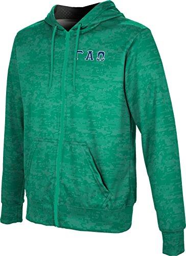 - Gamma Alpha Omega Men's Zipper Hoodie, School Spirit Sweatshirt (Digital) C5BF4