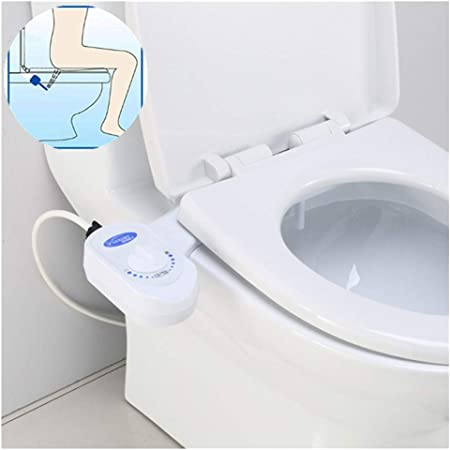 Amazon Com Toilet Seat Bidet Attachments Non Electric Bathroom Bidet Fresh Water Spray Self Cleaning And Nozzle Toilet Flushing Sanitary Device Home Bidet Reduce Toilet Paper Bidet Connector 15 16standard Garden