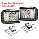 #10: Side Shooter LED Lights OFFROADTOWN 2pcs 4'' 96W LED Pods Off Road Driving Light Spot Flood Combo Fog Lights Waterproof LED Cubes for Truck Jeep Motorcycle Pickup Boat