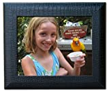 Dacasso Crocodile Embossed Picture Frame, 8 by 10-Inch, Black by Dacasso