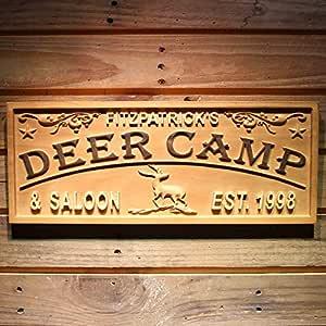 wpa0393 ciervos Camp & Saloon nombre personalizado con est ...