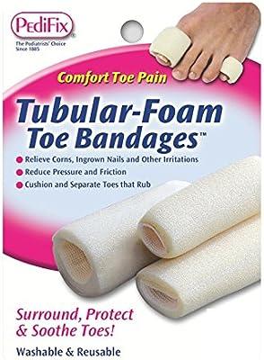 Amazon.com: Pedifix Tubular-foam Toe Bandages, 3-Count (Pack ...