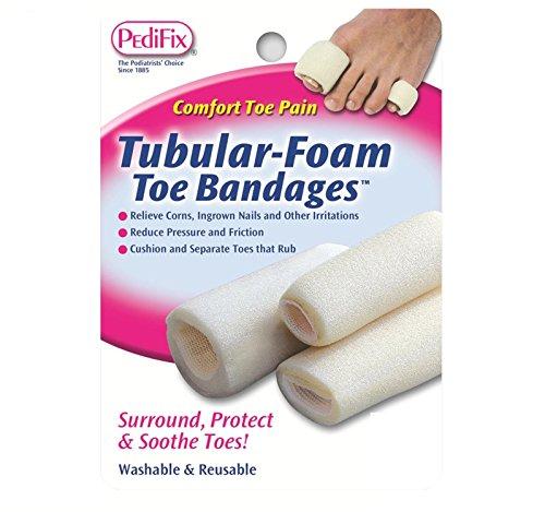 Pedifix Bandages (Pedifix Tubular-foam Toe Bandages, 3 - Large,  (Pack of 2))