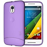 TUDIA Ultra Slim Full Matte ARCH TPU Bumper Protective Case for Motorola Moto G 3 (3rd Gen 2015 Released) (Purple)