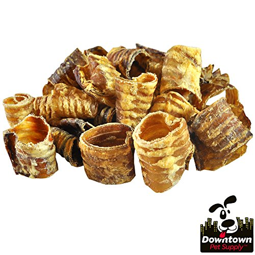 Premium Beef Trachea Dog Chews, Great Source of Glucosamine, 100% Natural Long-Lasting Treats for Small, Medium, and Large Dogs (3, 25 Pack)