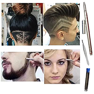 New ?Hair Styling Tools Hair Cutting Razor Stick For Womens,Mens and Children with 10 Accessories and 1 Tweezers Trimming Tool For Hair Design/Hair Tattoo