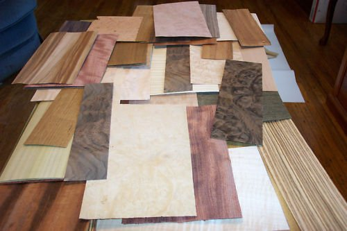 (Ship from USA) 50-60 pc.mixed exotic wood veneer 5