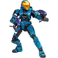 Halo 3 McFarlane Toys Series 6 MEDAL EDITION Exclusive Action Figure TEAL Spartan Soldier Eva Includes 2 Covenant Pulse