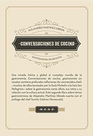 Conversaciones de cocina: Gastronomía sin recetas eBook: Martínez ...