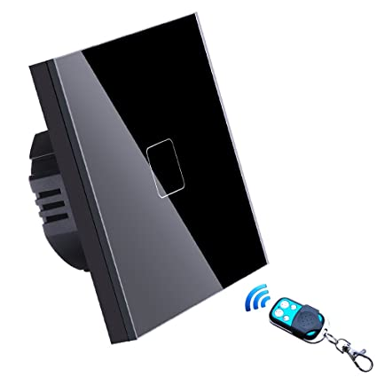 Interruptor Inteligente de pared, LED Interruptor de luz de pared remoto inalámbrico Trabaja con Alexa