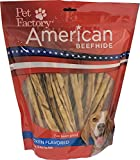 Cheap Pet Factory American Beefhide Chews 28225 Rawhide Chicken Flavor 10″ Thin Rolls for Dogs. American Beefhide is a Great Source for Protein and Assists in Dental Health. 35 Pack, Resealable Package