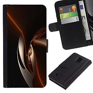 iKiki Tech / Cartera Funda Carcasa - Black Shiny Dark Smooth - Samsung Galaxy Note 4 SM-N910F SM-N910K SM-N910C SM-N910W8 SM-N910U SM-N910