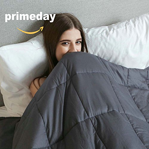 Weighted Idea Cooling Weighted Blanket (48''x78'', 12 lbs for 100-140lbs individuals, Grey) for...
