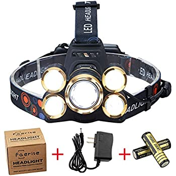 Brightest Headlamps Flashlight With Rechargeable Lithium