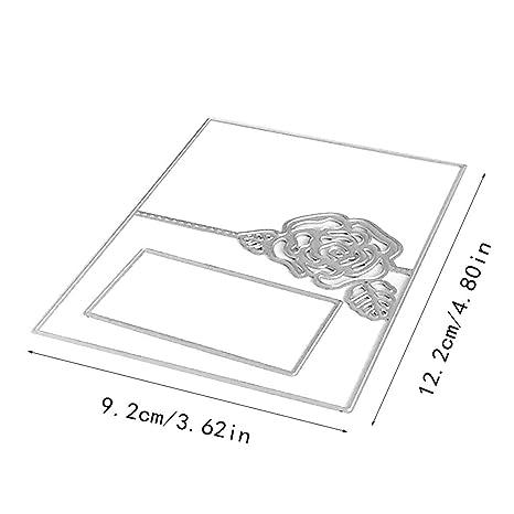 biglietti stencil fustelle in metallo per fai da te Silver Acciaio al carbonio scrapbooking Fustelle a forma di dito album di ritagli taglia unica