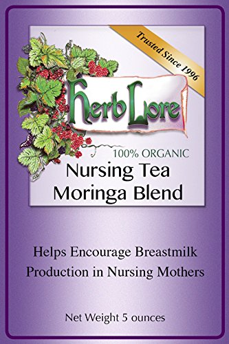 Herb Lore Organic Nursing Tea With Moringa, 60 Servings, Loose Leaf, Lactation Tea Helps Increase Breast Milk Supply Naturally And Calms Colic And Gas in Baby and Mama
