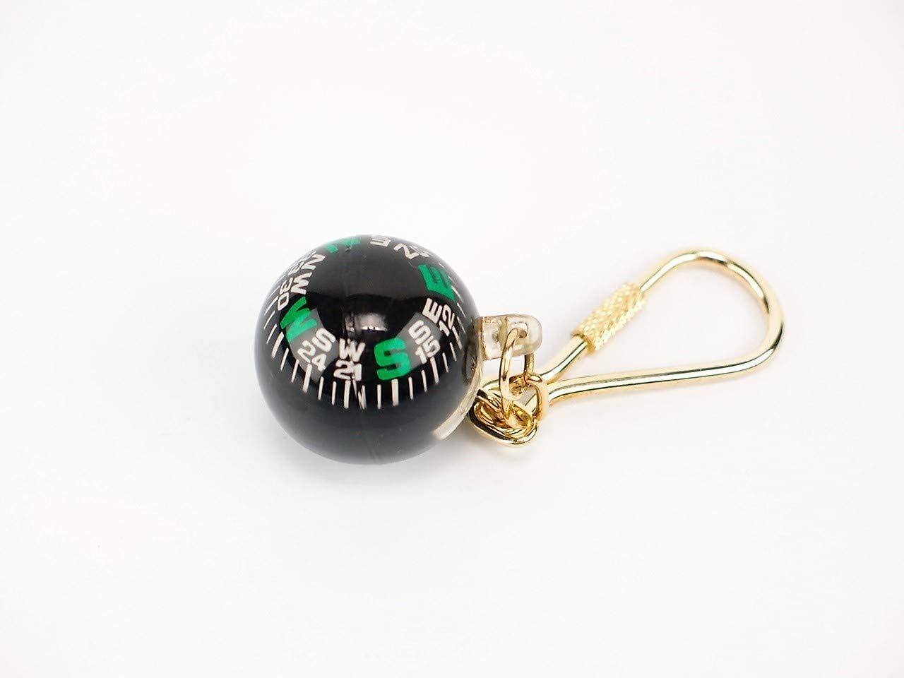 Ball Compass Shore And More Gifts Brass Keyring