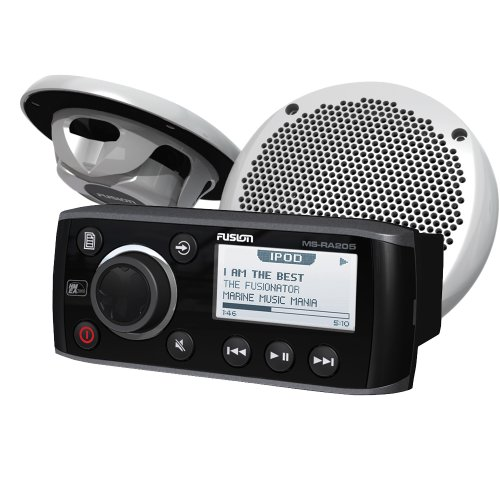 Fusion MS-RA205KTS Combo Pack with MS-RA205 Head Unit and MS-EL602 Speaker