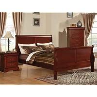 Acme 19517EK Louis Philippe III Eastern King Bed, Cherry Finish