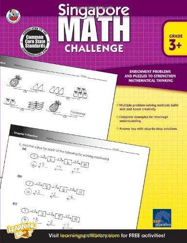 Singapore Math Challenge, Grades 3 - 5