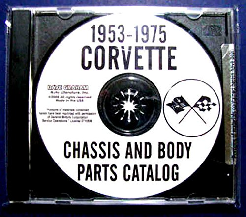 COMPLETE & UNABRIDGED CORVETTE FACTORY CHASSIS & BODY PARTS CATALOG CD FOR 1961 1962 1963 1964 1965 1966 1967 ()