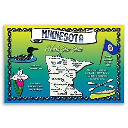 MINNESOTA STATE MAP postcard set of 20 identical postcards. Post cards on new mexico map of usa, navy map of usa, alaska map of usa, al map of usa, brown map of usa, grand canyon map of usa, vermont map of usa, northeastern map of usa, massachusetts on map of usa, cincinnati map of usa, pittsburgh map of usa, dartmouth map of usa,