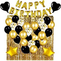 Black And Gold Birthday Party Decoration Two Set Happy Birthday Balloons Birthday Decoration Balloons Party Decoration…