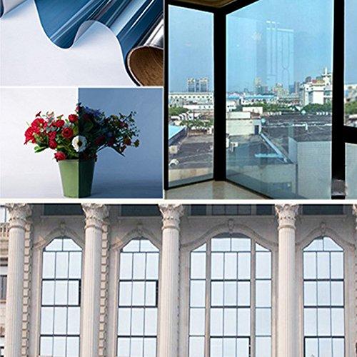 YLEVV Película de Tinte de Ventana Reduccion de Calor, Película Solar de protección UV residencial Comercial reflexivo...