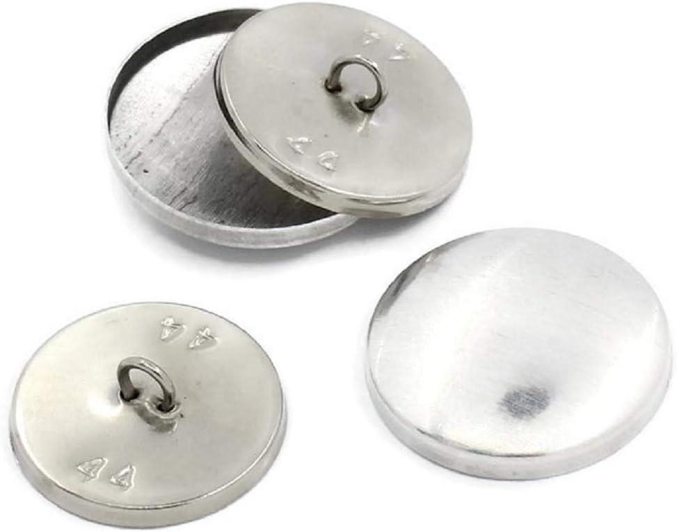 10Sets aluminio botones Medicus, aluminiumfarben, diámetro aprox. 28Mm, posterior 25mm