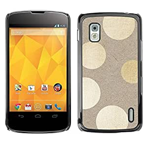 Carcasa Funda Prima Delgada SLIM Casa Case Bandera Cover Shell para LG Google Nexus 4 E960 / Business Style Polka Dots Wood Pattern Bling