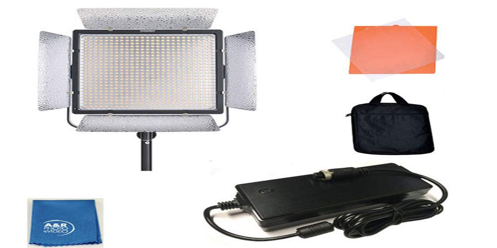 YONGNUO YN860 Video Light LED Studio Lamp 5500K FIX 95 Color Rendering 360 Degree Adjusted with AC Adapter by YONGNUO