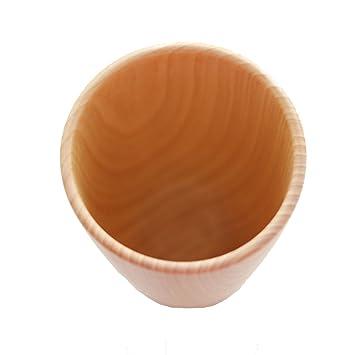 TIANHot Productos Minimalista En Madera Blanca Cubiertos De Madera Creativa Capacidad De La Taza Portable: 201-300ml,Brown: Amazon.es: Hogar