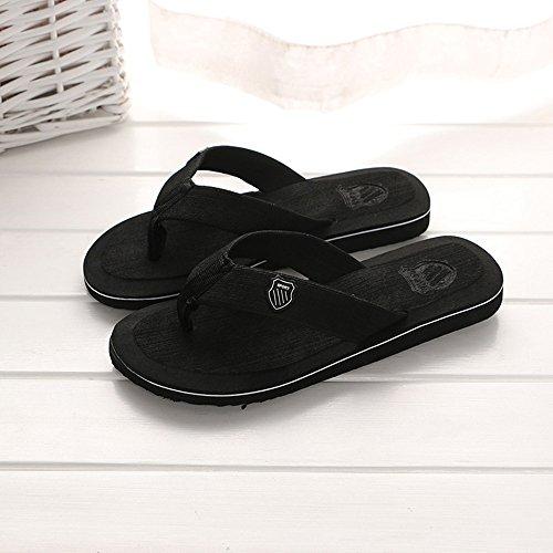 Hombre amp; Verano Outdoor Shoes Flops Negro Playa Casual Indoor ALIKEEY Zapatillas Flip De Sandalias ZwF5xwdzqn