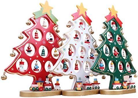 WINOMO Cartoon DIY de madera de árbol de Navidad decoración ...