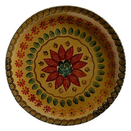 Festa Dinnerware – Round Platter w/Floral Art Design - Festive Dinnerware made of Italian Dinnerware Set of Flowery Hand Painted Ceramic