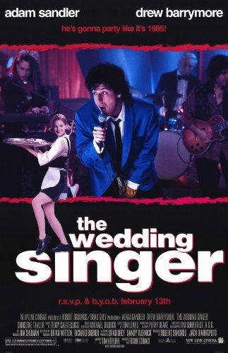 The Wedding Singer Poster Movie 11x17 Adam Sandler Drew Barrymore Christine Taylor Allen Covert