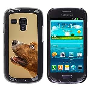 Be Good Phone Accessory // Dura Cáscara cubierta Protectora Caso Carcasa Funda de Protección para Samsung Galaxy S3 MINI NOT REGULAR! I8190 I8190N // Smooth Fox Terrier Mutt Pet Dog