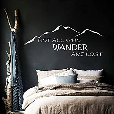BATTOO Not All Those Who Wander Are Lost Wall Decal Quote J.R.R. Tolkien Vinyl Wall Decal Sticker Adventure Wall Decor Travel Wall Decals
