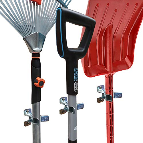 MANOKY Shovel Holder Wall Mount Outdoor 10 Pack – Garden Yard Tool Organizer for Garage – Shed Organizers and Storage…