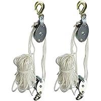 Grip 18095 2-Ton Rope Pulley Hoist (2-(Pack))