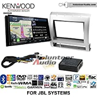 Volunteer Audio Kenwood Excelon DNX994S Double Din Radio Install Kit with GPS Navigation Apple CarPlay Android Auto Fits 2005-2011 Toyota Tacoma with Amplified System (Light Silver)