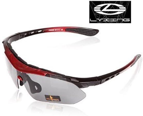 LVXING de Bicicleta para Exterior Aire Libre (5 Lentes polarizadas irrompibles Intercambiables Gafas de Sol protección UV 400 YSYT Deal: Amazon.es: Deportes y aire libre