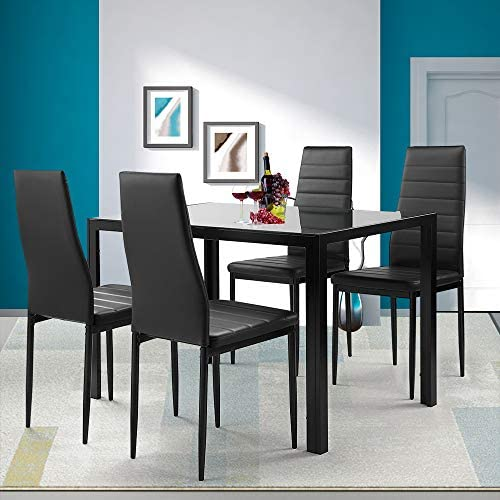 Goujxcy 5-Piece Dinning Table Set