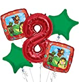 Wonder Pets Balloon Bouquet 8th Birthday 5 pcs - Party Supplies