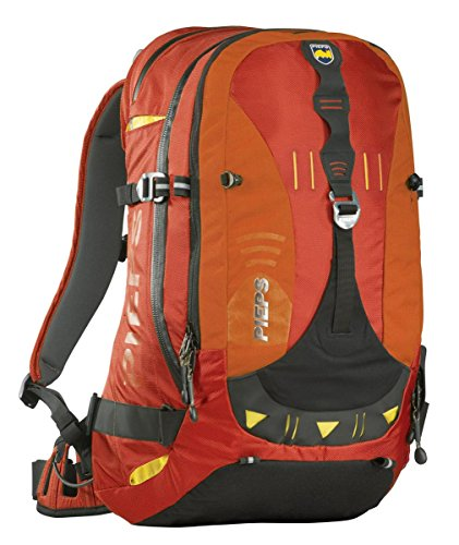 Pieps Myotis - Pack de esquí de descenso libre, talla 56 x 35 x 7 cm, 30 Litros Rojo - Chili-Red