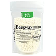 Awaken Nature's CERTIFIED 100% Organic WHITE Beeswax Pellets - USDA CERTIFIED - Superior Quality, Triple Filtered, Easy to Melt Micro Pastilles