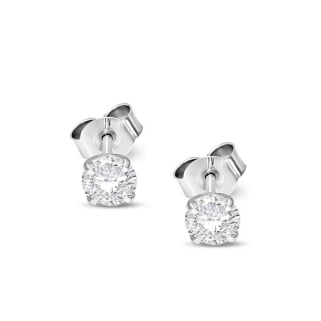 bef0dbb4e Amazon.com: Luxury 1 cttw Lab Grown Diamond Stud Earrings Lab Created Diamond  Earrings SI-GH Quality 10K Real Diamond Earrings White Gold Diamond Jewelry  ...