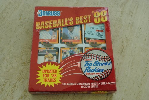 1988 Donruss Baseball Cards Baseball's Best Collector's Edition Factory Set of 336 cards plus Stan Musial Puzzle - Includes dozens of superstars and both current and future Hall of Famers - Includes Roger Clemens, Cal Ripken Jr., Don Mattingly, Dale Murphy, Mark McGwire, Andre Dawson, Alan Trammell, Ozzie Smith, Ryne Sandberg, Kirby Puckett, Jose Canseco, and many more superstars!! ()